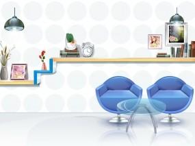 Обои Белая комната: Комната, Книги, Картины, Стулья, Разное