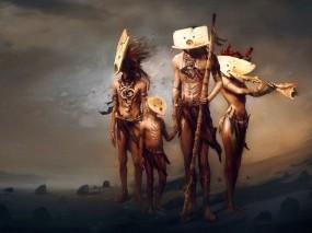 Обои Индейцы: Рисунок, Племя, Люди, индейцы, Разное