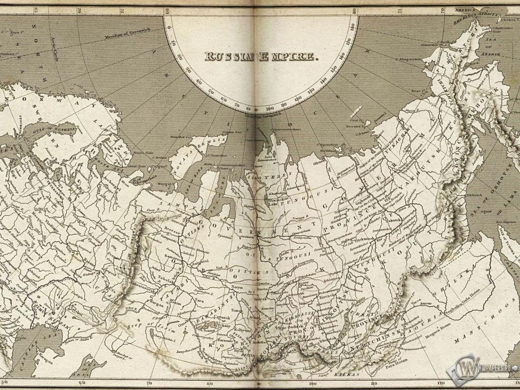 Карта Российской империи 1024x768