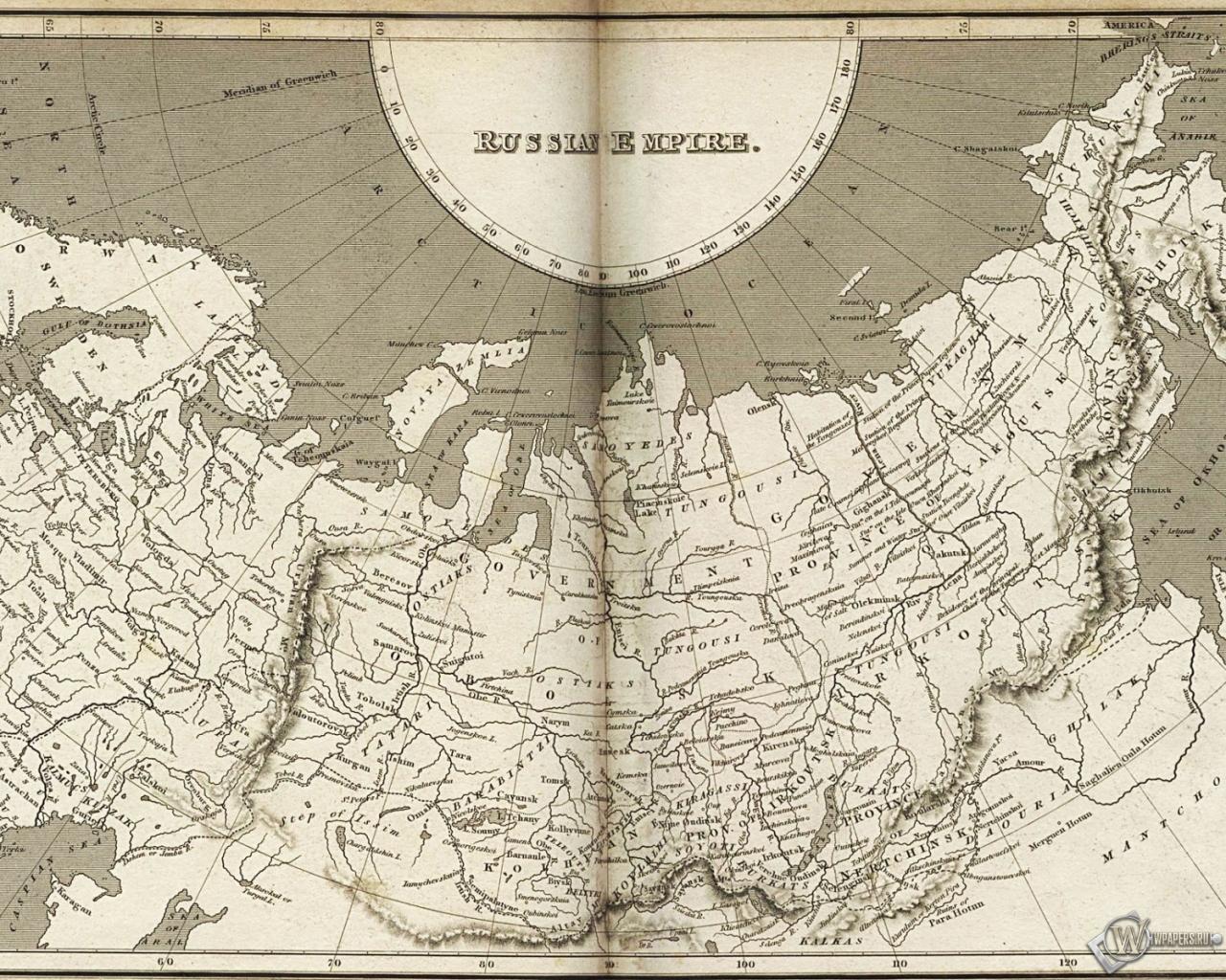 Карта Российской империи 1280x1024