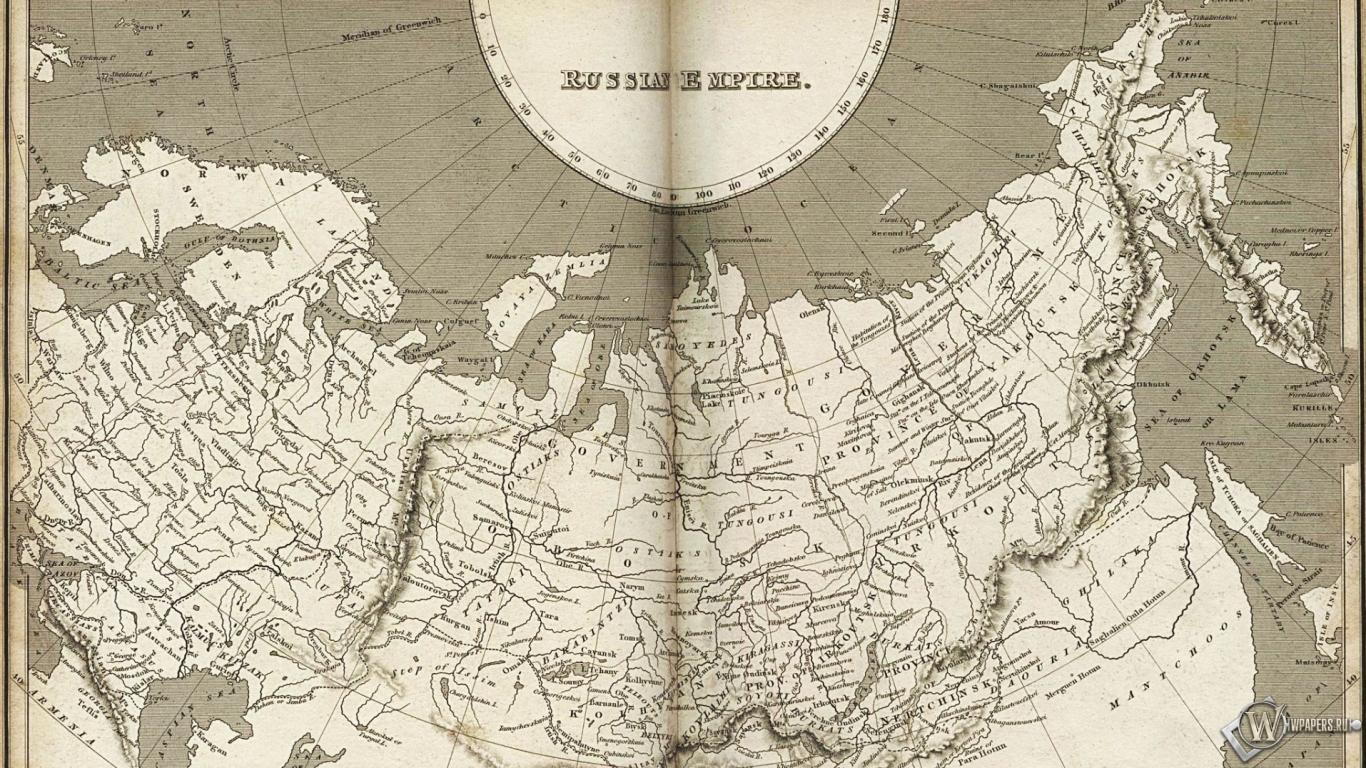 Карта Российской империи 1366x768