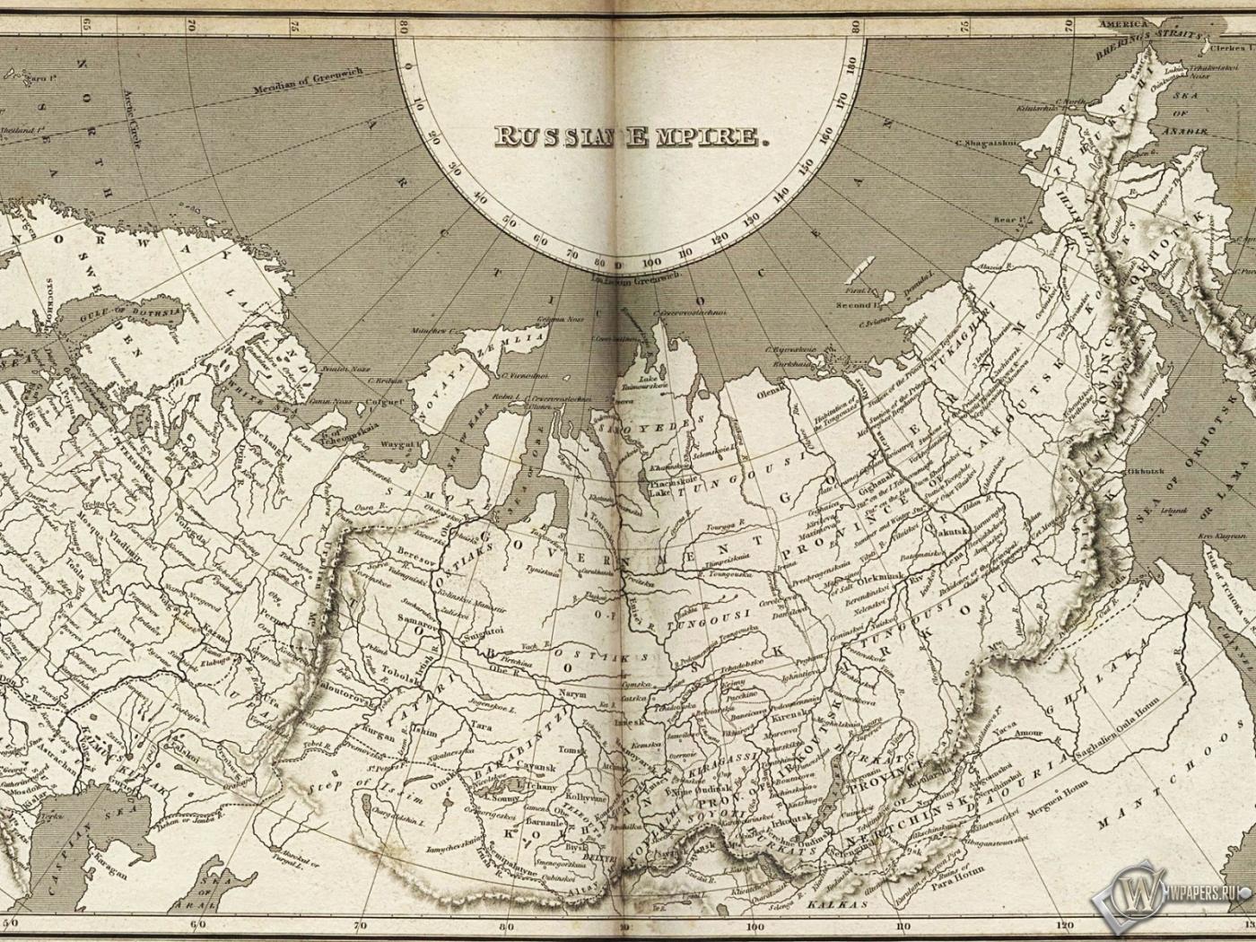 Карта Российской империи 1400x1050