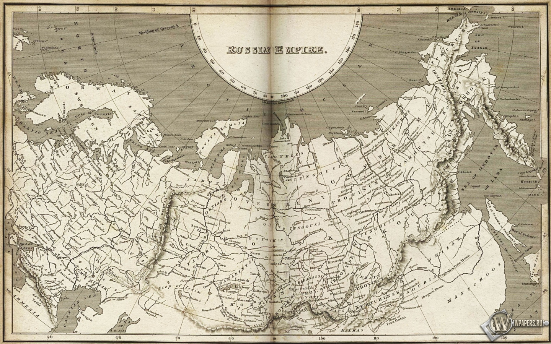 Карта Российской империи 1440x900
