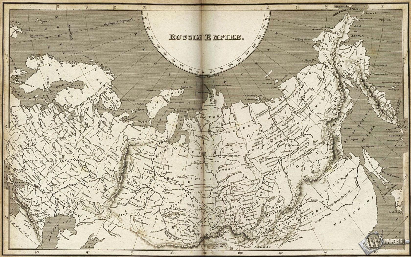 Карта Российской империи 1680x1050