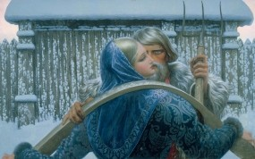 Обои Константин Васильев Нечаянная встреча: Картина, Художник, Разное