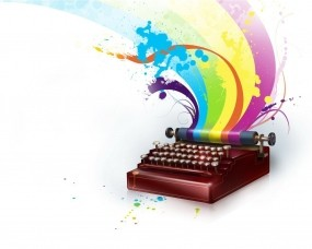Обои Печатная машинка: Цвет, Радуга, Разное