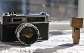 Обои Danbo с фотоаппаратом: Danbo, Фотоапарат, Разное