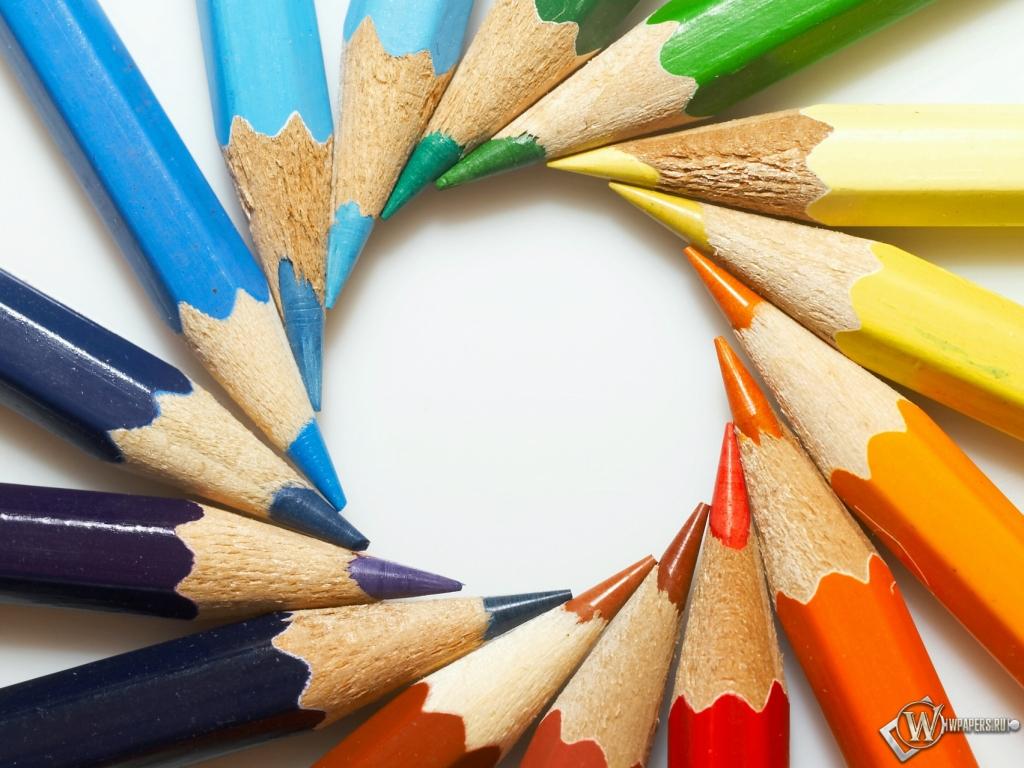 Цветные карандаши 1024x768