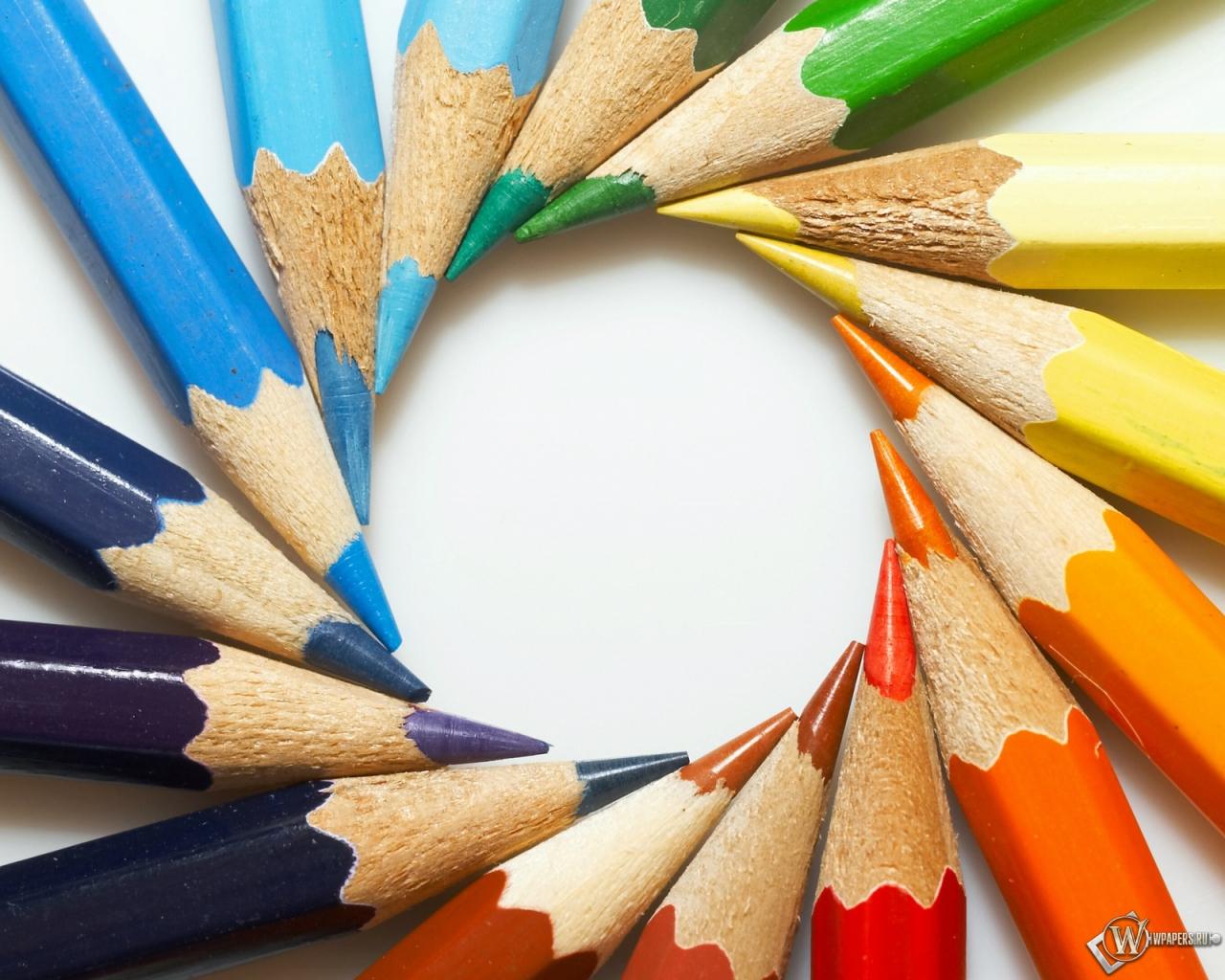 Цветные карандаши 1280x1024