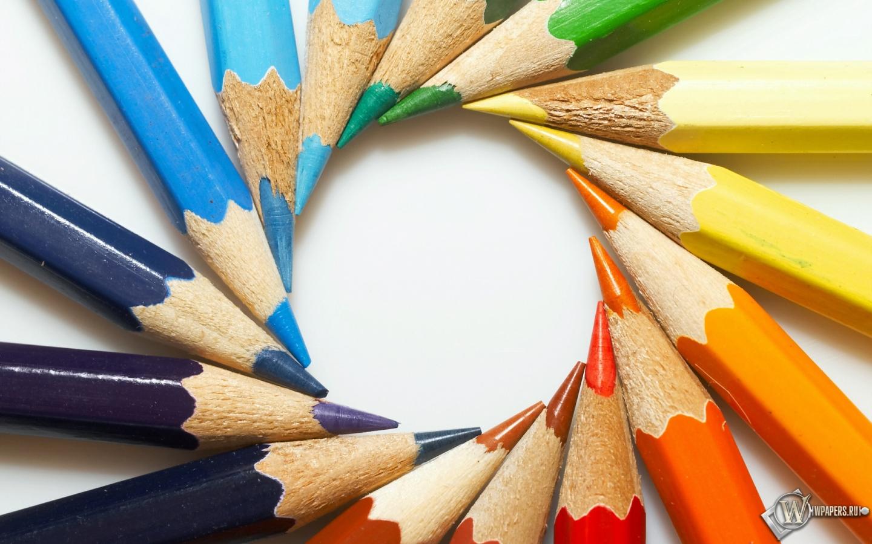 Цветные карандаши 1440x900