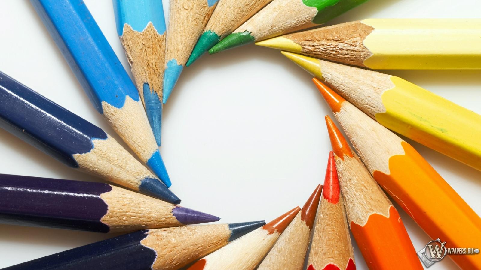 Цветные карандаши 1600x900