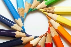 Обои Цветные карандаши: Круг, Цвет, Карандаши, Разное