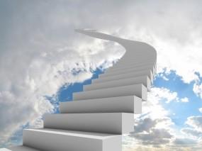 Обои Лестница в небо: Облака, Небо, Лестница, Разное