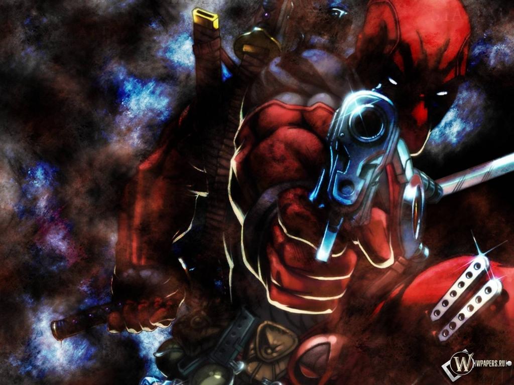Deadpool gun 1024x768