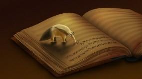 Обои Муравьед и Ноты: Книга, Ноты, Муравьед, Разное