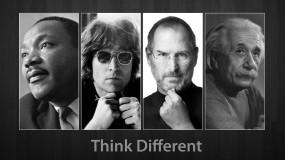 Обои Думай иначе: Мужчина, Стив Джобс, Альберт Эйнштейн, Разное