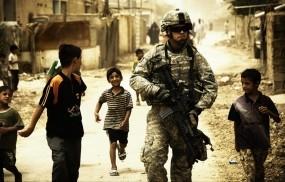 Солдат, дети, война