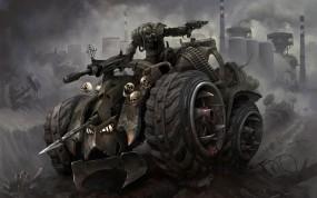 Обои Арт Лео Хао: Машина, Оружие, Солдат, Разное