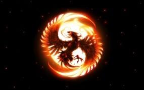 Обои Phoenix: Sun, Феникс, Phoenix, Emblem, Разное