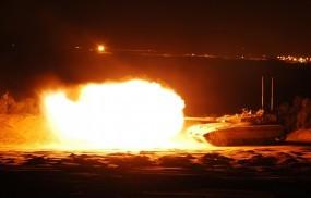Обои Выстрел из танка: Огонь, Танк, Выстрел, Разное