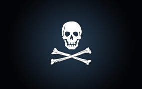 Обои Пиратская эмблема: Череп, Эмблема, Пираты, Кости, Флаг, Разное