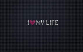 Обои Я люблю свою жизнь: Любовь, Сердце, Жизнь, Life, Разное