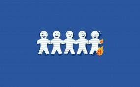 Обои Бумажные человечки: Огонь, Бумага, Человечки, Разное
