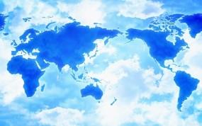 Обои Мир в облаках: Облака, Карта, Мир, Разное