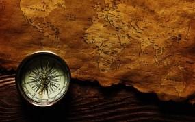 Обои Карта и компас: Карта, Компас, Путешествие, Разное
