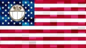 Обои United States of Obama: Smile, Флаг, USA, Обама, США, Obama, Разное
