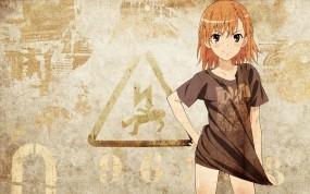 Обои Мисака Микото: Знак, Misaka Mikoto, Аниме