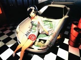 Девушка на машине