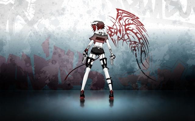 Аниме-девушка с пистолетом
