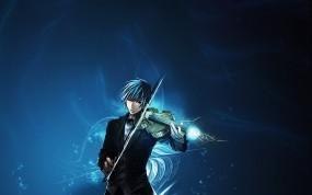 Обои Скрипач: Парень, Аниме, Музыка, Скрипка, музыкант, Аниме