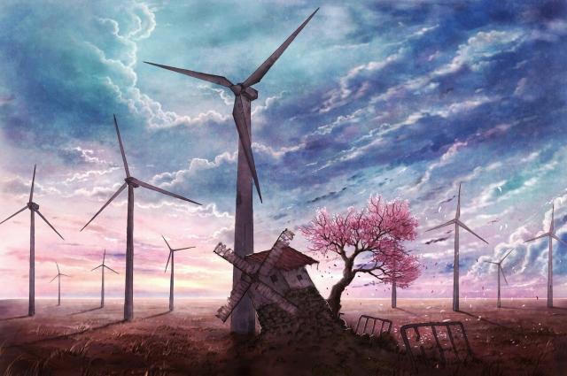 Мельница у ветряков