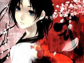 Девушка и сакура