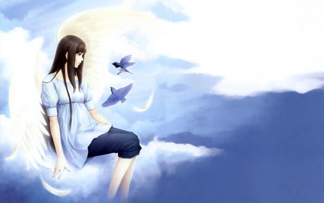Девушка с птицами