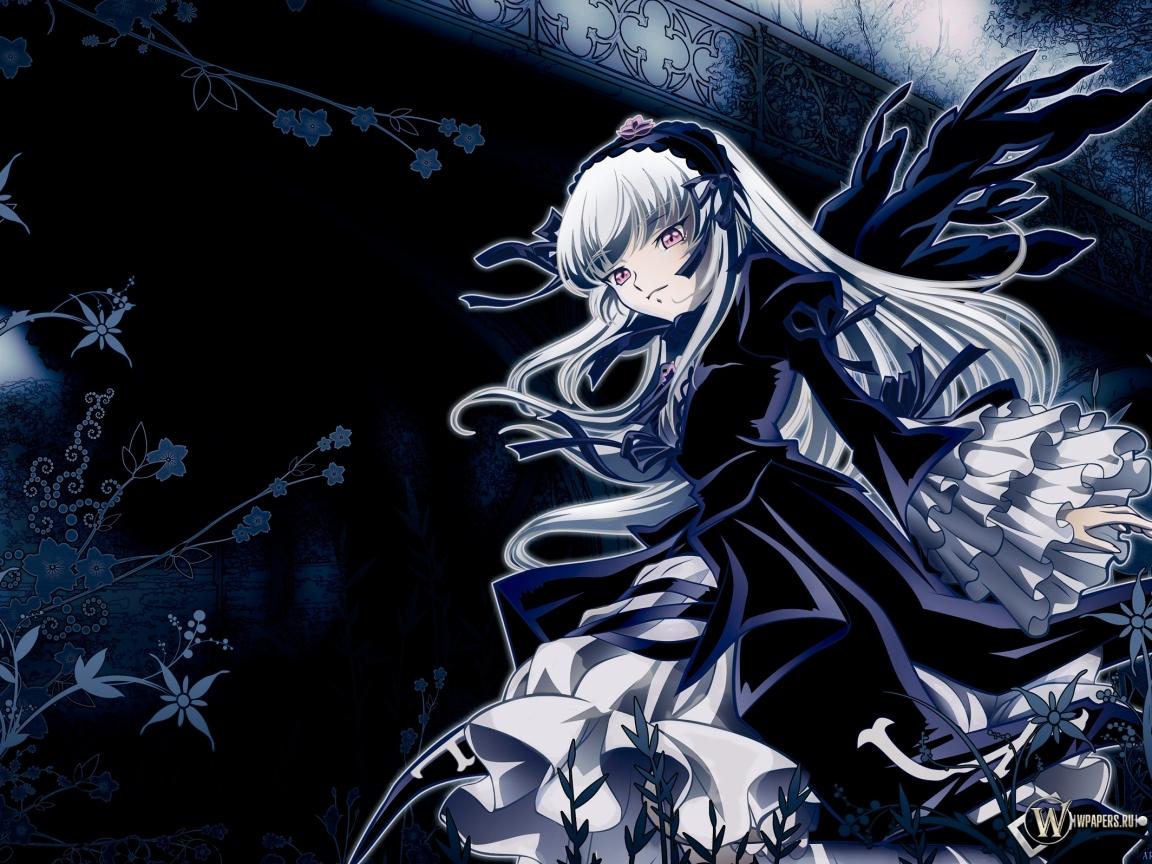 Мрачная девушка 1152x864