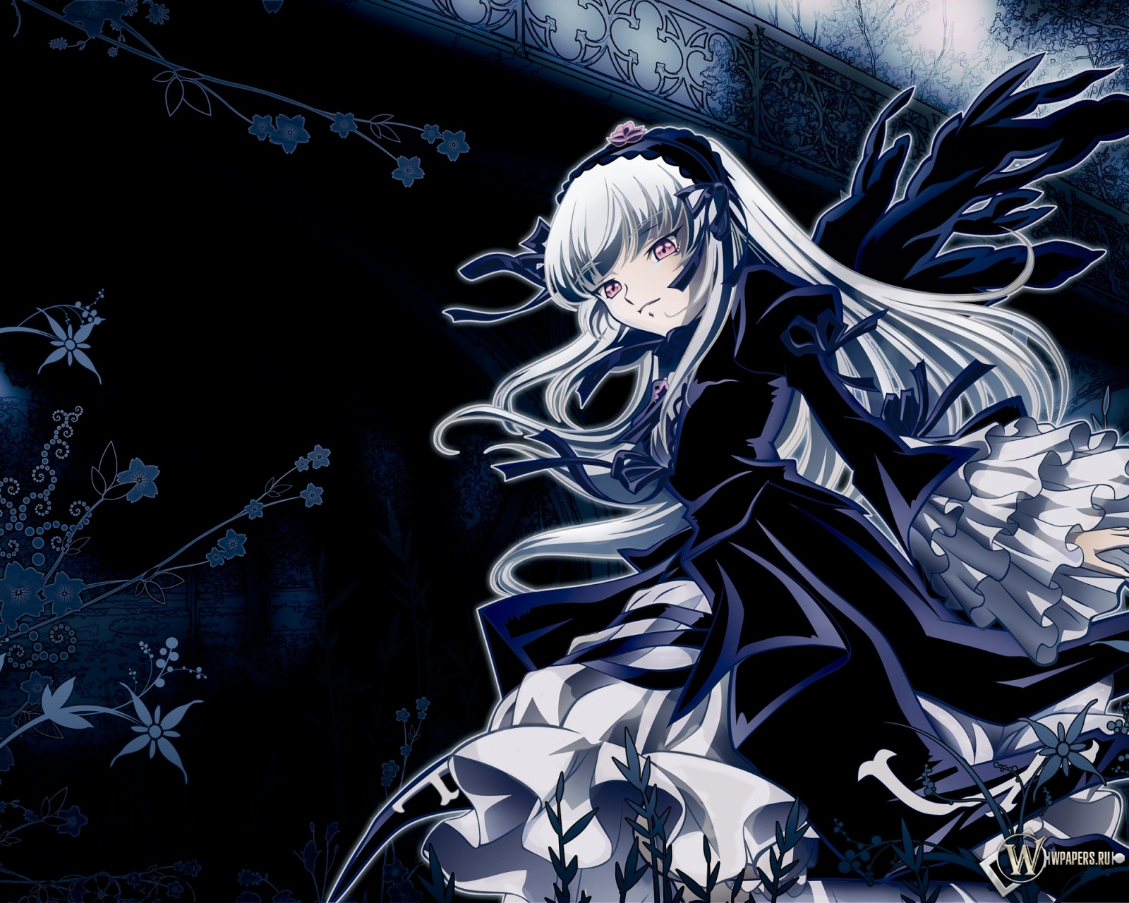 Мрачная девушка 1600x1280