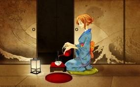 Обои One Piece: Аниме, Кимоно, Чай, One piece, Аниме