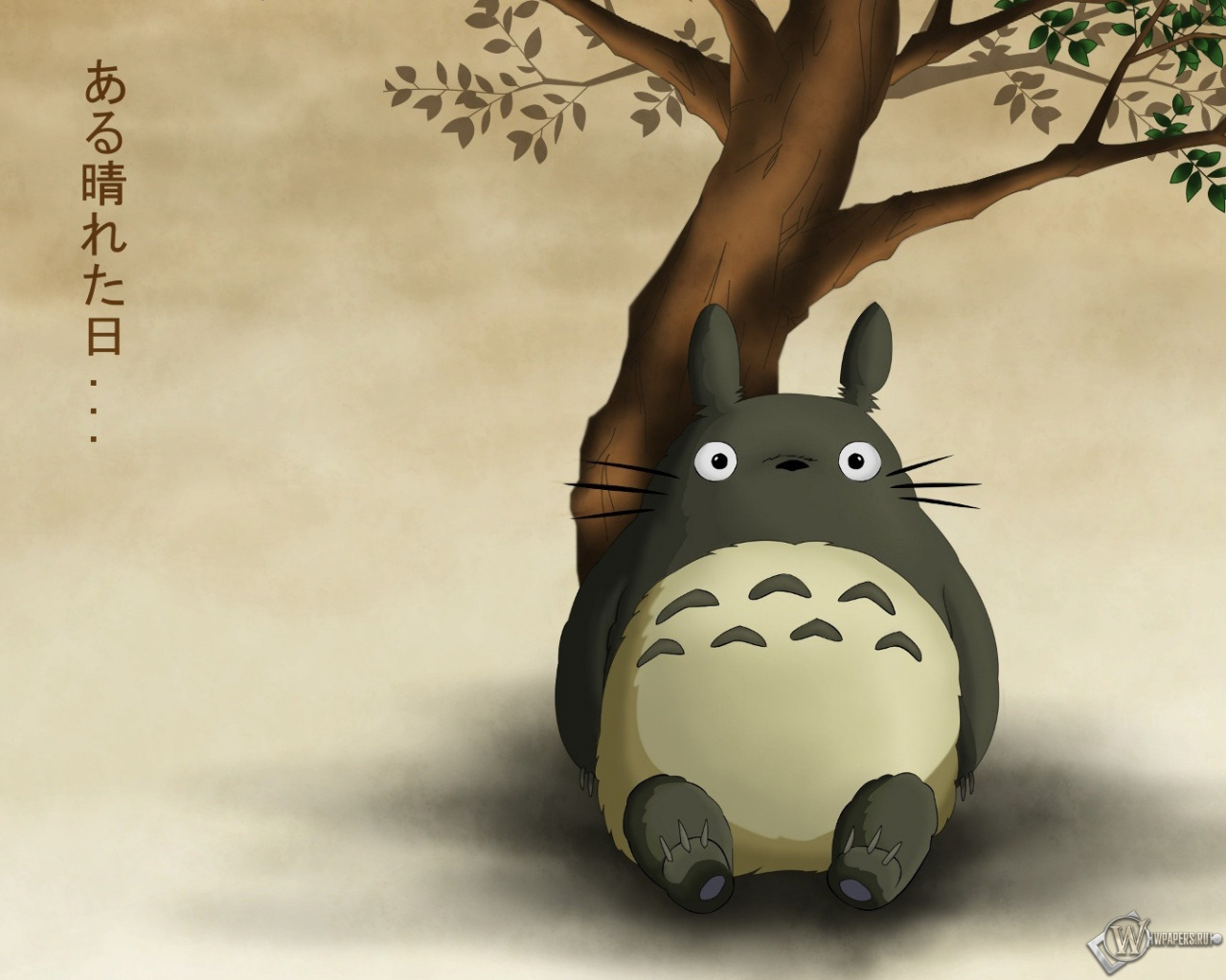 Обои totoro My Neighbor Totoro дождь Mei Kusakabe зонт