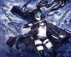 Обои Black Rock Shooter: Цепи, Катана, Black Rock Shooter, Аниме