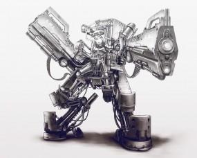 Обои Экзоскелет: Робот, Экзоскелет, Аниме
