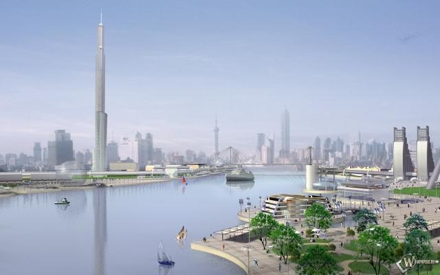 3D город