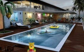 Обои Villa maya 8: Бассейн, Игрушки, Вилла, Прочая архитектура