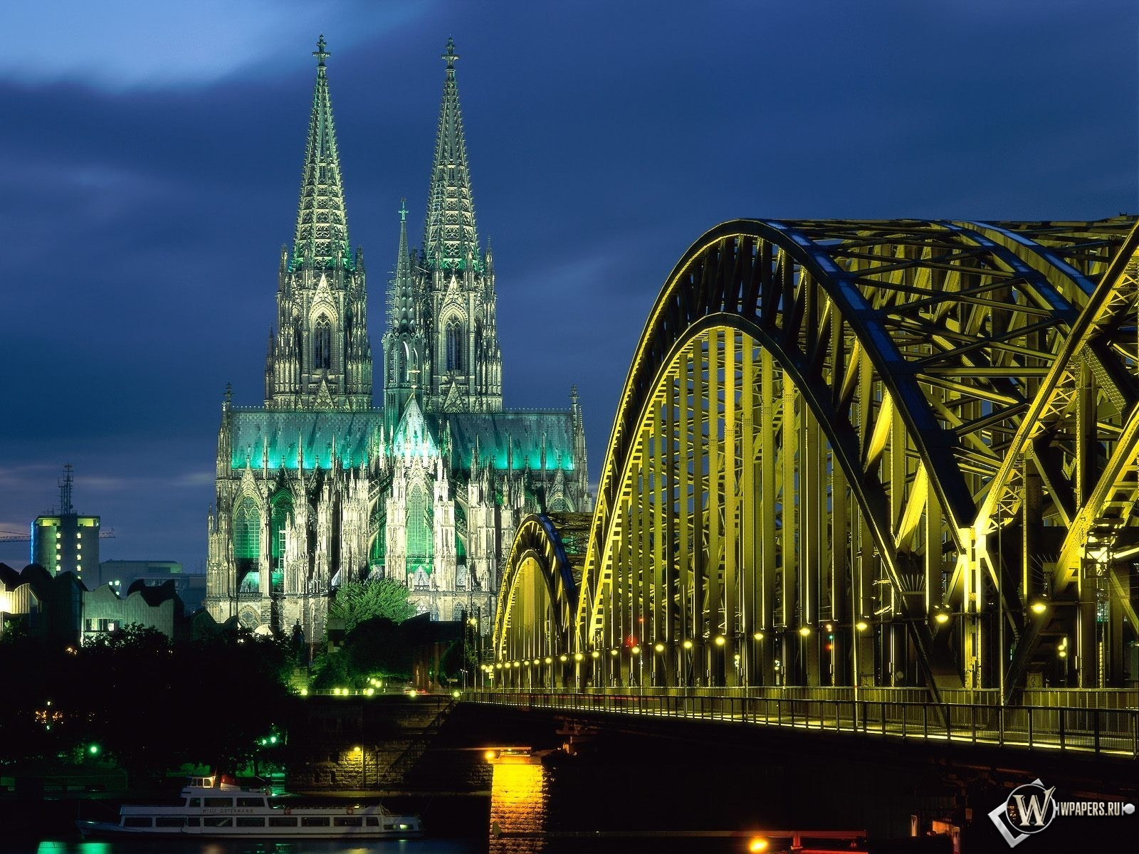 Cologne Cathedral Hohenzollern Bridge Germany 1600x1200
