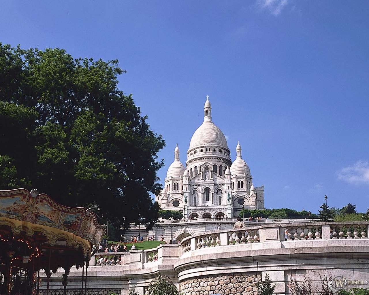 Собор Сакре-Кёр, Париж 1280x1024