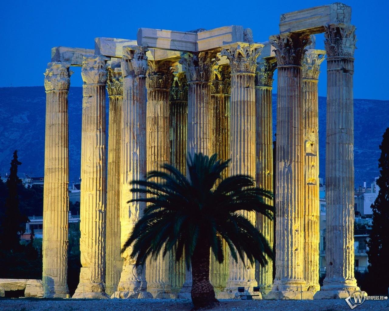 Temple Of Olympian Zeus Athens Greece 1280x1024