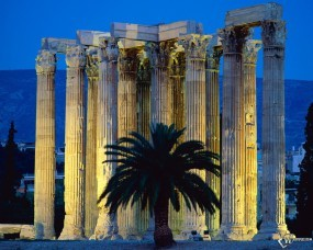 Обои Temple Of Olympian Zeus Athens Greece: , Прочая архитектура
