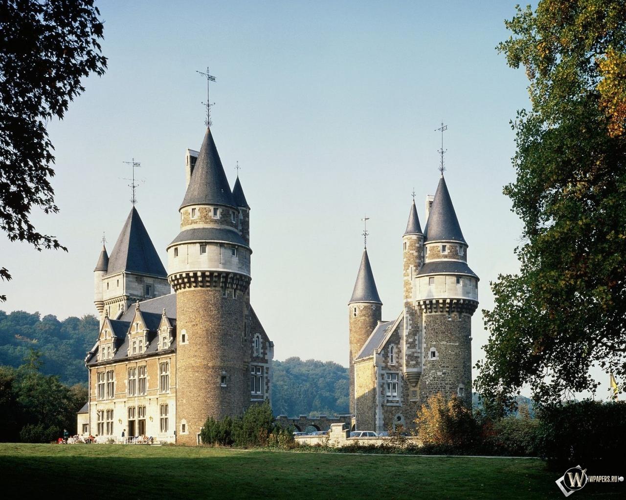 Замок в Бельгии 1280x1024